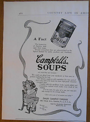 1906 vintage food AD Campbell's Tomato Soup