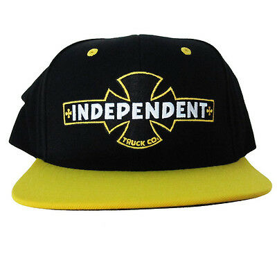 INDEPENDENT Painted BC STARTER Cap YELLOW/BLACK: NEW in AUSTRALIA