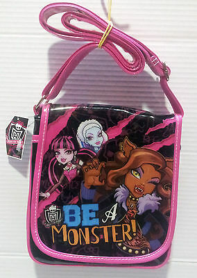 Monster High Borsa Tracolla 2 Dimensioni Con Zip Shoulder Bag Originale