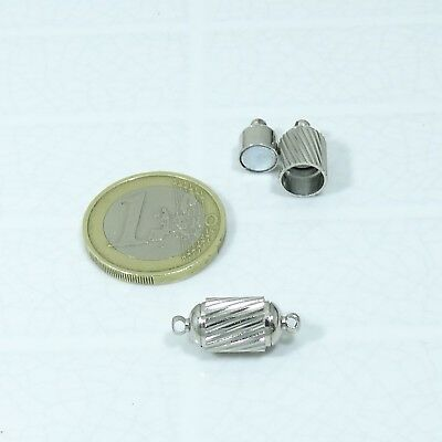 4 Cierres Magnéticos 17x11mm T532 Acero Inoxidable Clasps Spange Leather Beads