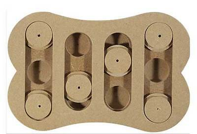 Spot wooden shuffle bone dog IQ puzzle, treat dispensing interactive toys