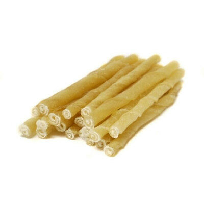 "Rawhide Twists Sticks Natural Beef  Hide Dog Chews 5"" X 4/6MM Multi buy Packs"