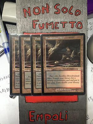 Mtg 4X Pantano Insanguinato - Bloodstained Mire Assalto Near Mint 2 Ita + 2 Ingl