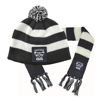 Geelong Cats AFL Footy Baby Toddlers Beanie Scarf Pack