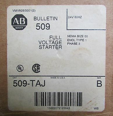 ALLEN BRADLEY Full Voltage Starter 509 TAJ