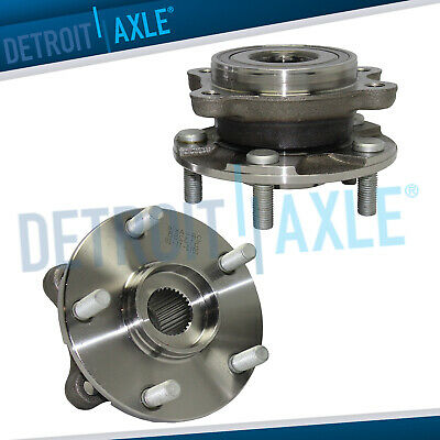 Set of 2 NEW Front Driver and Passenger Complete Wheel Hub and Bearing Assembly
