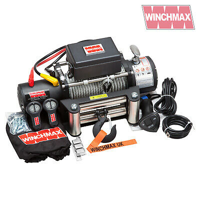 ELECTRIC WINCH 12V 4x4 13000 lb MILITARY SPEC MADE BY WINCHMAX