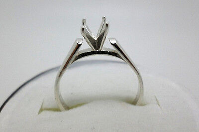 4mm - 7mm Round Cathedral Style Pre-Notched Sterling Silver Wedding Ring Setting