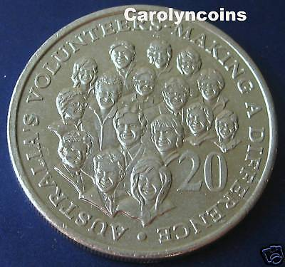 20c Coin 2003 Australia's Volunteers - Making a Difference 20 Cent Australian
