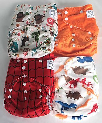 4 pack of Toddler Modern Cloth Nappies Cutie Bum Large Size Special Needs kids