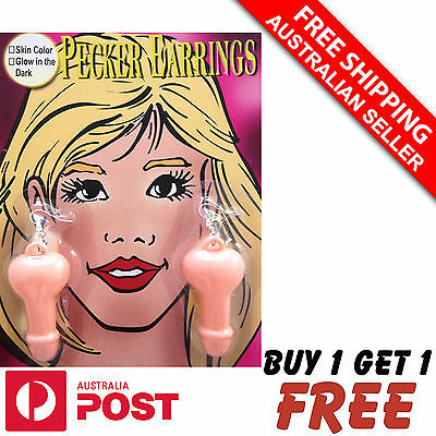 Willy Pecker Penis Earrings.Hens Bachelorette Party Night Games Accessories Gift