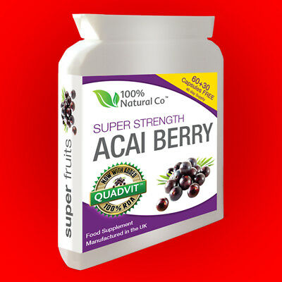 Acai Berry Ultra-5000 Super Strength Vegetarian Friendly 90 Caps