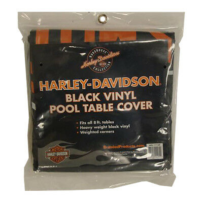 Harley Davidson 8 ft. Black Vinyl Pool Table Cover