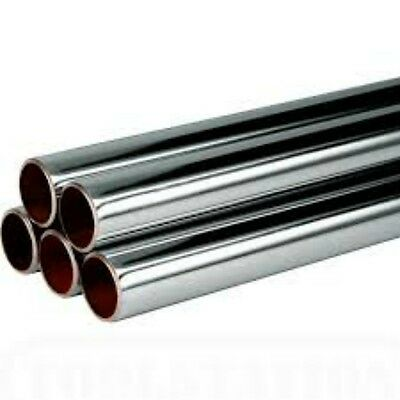chrome plated copper pipe/tube 8mm/12mm/15mm/22mm/35mm chrome waste pipe/new