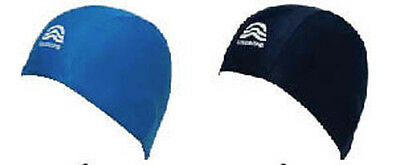 Childs Childrens Kids Swimming Hat Fabric Swim Cap Blue or Navy Great Value