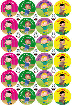 Politeness Good Manners School Reward Stickers NEW