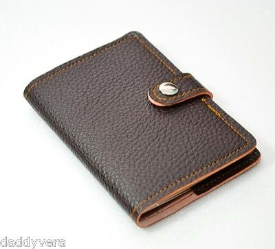 Hot Dark Brown Cacao Passport Wallet Cover Case Bag Holder Leather Pvc Women Men