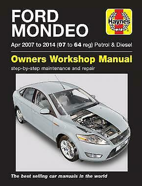Haynes Ford Mondeo Petrol & Diesel 2007-2012 Manual NEW 5548