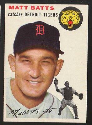 1954 Topps #88 Matt Batts Detroit Tigers Nm Baseball Card