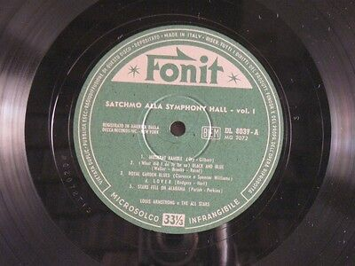Louis Armstrong - Satchmo At Symphony Hall Vol. 1 - Lp Ex+/nm Fonit Italy 1951