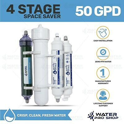 Portable RO/DI Compact Water Filtration System, 50 GPD, USA MADE, PRE-FLUSHED