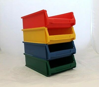 4 x High Quality Recycling Plastic Storage Parts Workshop Boxes/Bins 16L