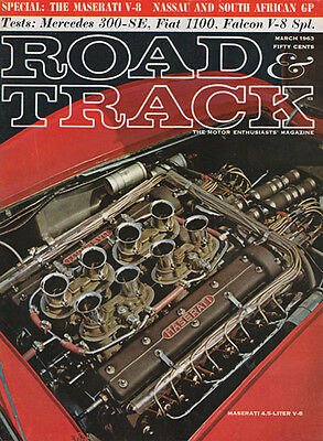 Road & Track March 1963 Ford Falcon V8 Feature