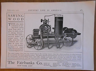 1906 vintage AD Wood Saws by Fairbanks Co New York City