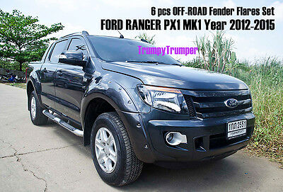 Off-Road Fender Flares Wheel Arch For Ford Ranger Px T6 Wildtrak 2012-2015 @a