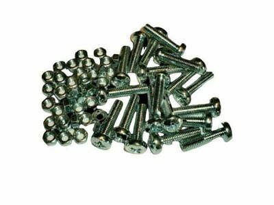 6mm M6 Machine Screws/Bolts and Nuts Pozidrive / Pozi Pan Head inc NUTS