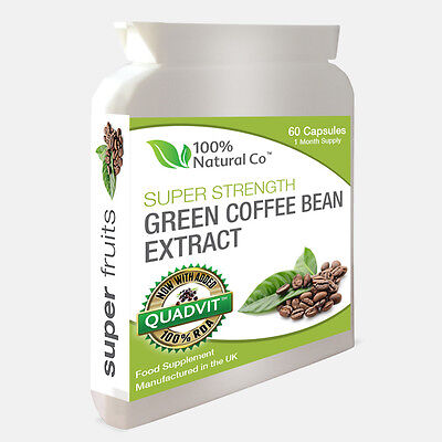 Green Coffee Bean Extract Capsules - 6000mg Daily - 50% CGA - Vege Friendly