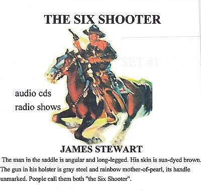 James Stewart The Six Shooter 8 radio shows 4 audio cds westerns Set #3 OTR