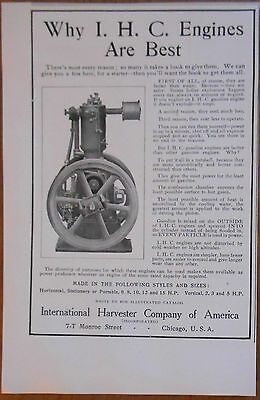 1906 vintage AD Gasoline Engines by International Harvester Company of America