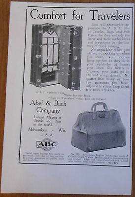 1906 vintage AD Abel & Bach Company luggage Comfort for Travelers