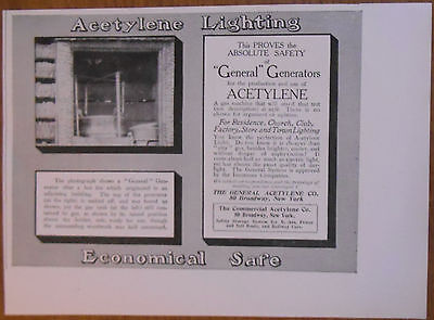 1906 vintage AD Acetylene Lighting by The General Acetylene Co