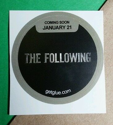 The Following Fox Title Kevin Bacon Shawn Ashmore Tv Photo Get Glue Sticker