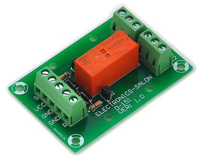Bistable/Latching DPDT 8A Power Relay Module, DC5V Coil.