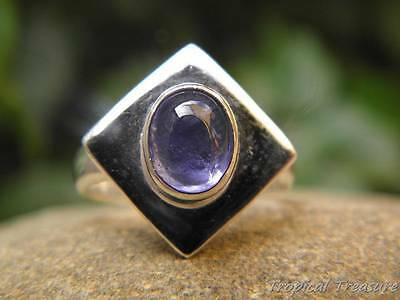 Tanzanite & 925 SOLID Silver RING (Sizes 5.75 - 10, L - T 1/2)