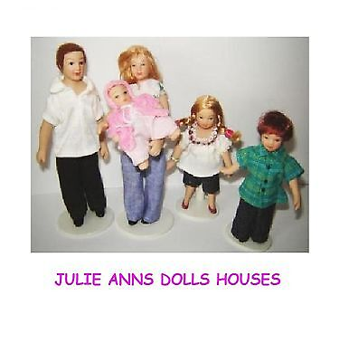 1:12 Scale Modern Family People Dolls House Accessory Nursery Miniature NEW