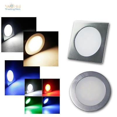 Slim LED Downlight Aluminium Mat 12V 0,5W IP67 Safe To Walk On /