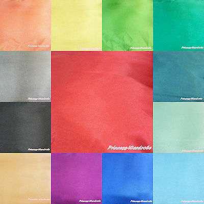 Solid Color Plain Style Soft Sew Crafting Satin Fabric Cloth for handmade 1 Yard