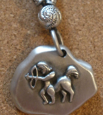 Zodiac star sign pendant Charm Astrology Horoscope pewter birth sun Sagittarius