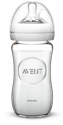Avent Glass Natural Feeding Bottle 240Ml