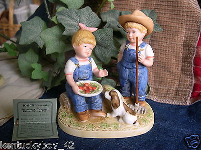 "Home Interiors HOMCO Denim Days Collection ""SUMMER HARVEST"" Figurine w/TAG #1507"