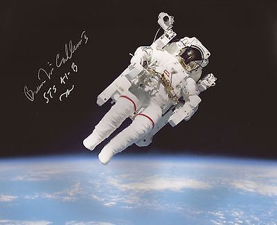 Bruce McCandless first spacewalk astronaut hand signed photo with coa UACC AFTAL
