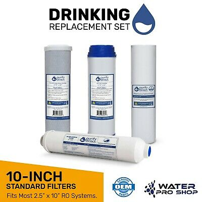 """Replacement Reverse Osmosis Filter Set for 5 Stage Universal Systems - 10"""""""