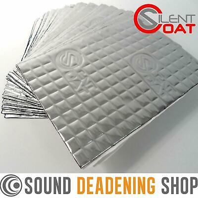 Silent Coat Sound Deadening Mat 2mm Compact 30 Sheets 180x250mm Pack Car Van