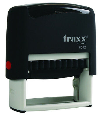 Custom Self Inking Rubber Stamp Traxx 9012 4 Line Return Address