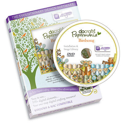 Docrafts Papermania Birdsong Card Making Scrapbooking Design Software - New