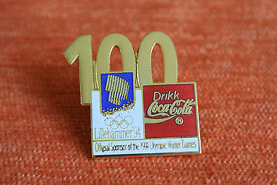 05885 Pin's Pins Jo Olympic Worldgames Lillehammer 1994 Coca Cola 100 Days